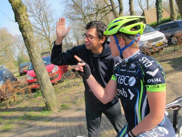 "Eric, our mechanic, giving me good race advice: ""Go really fast that way and if something gets in the way, turn"""""