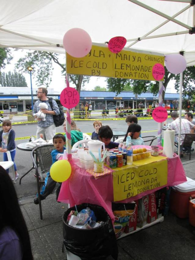 The lemonade stand that raised $333 for a prime