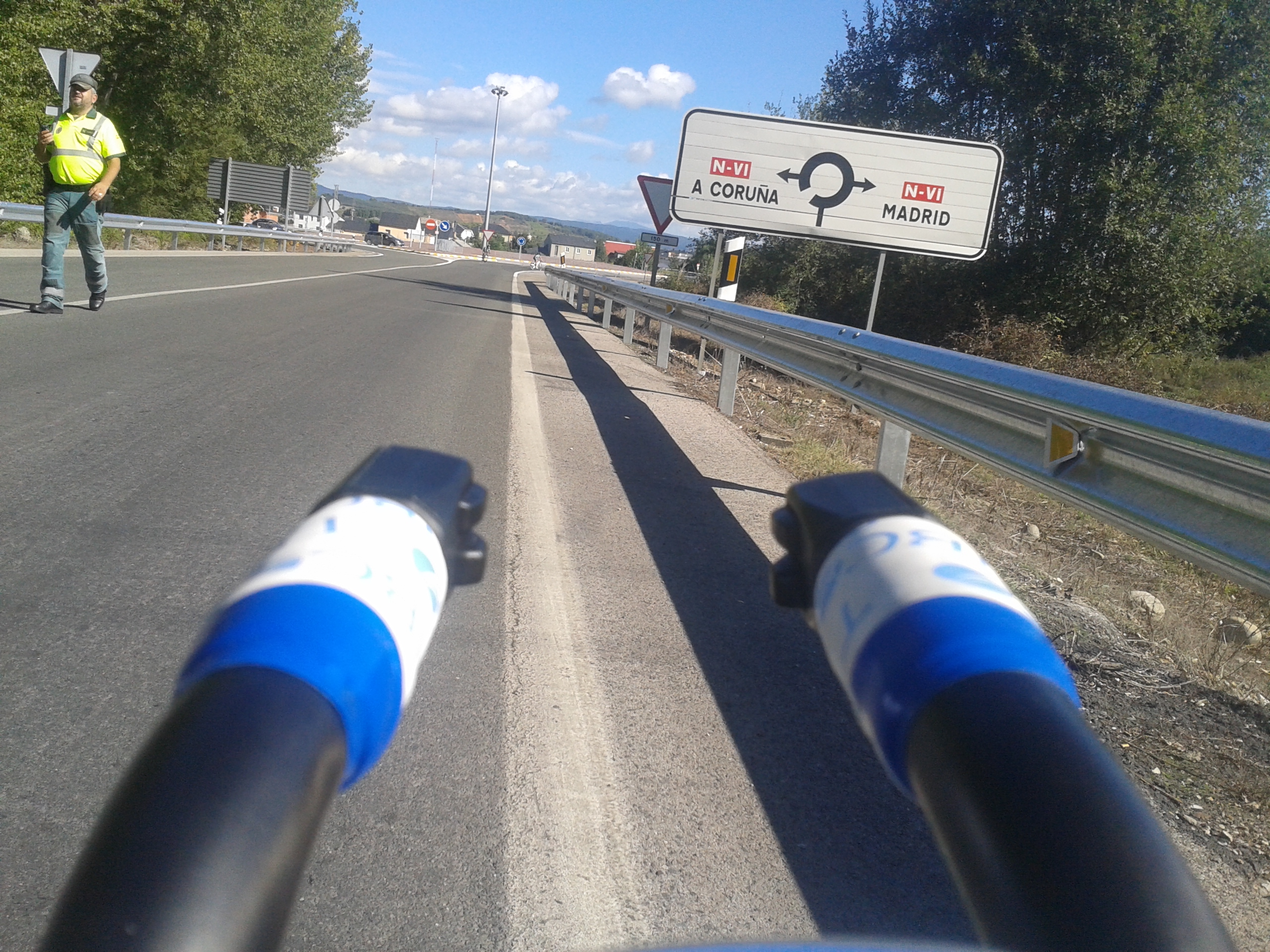 Photo: You know you're #livingthedream when you see signs to Madrid on your training ride.