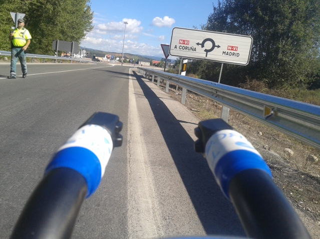 You know you're #livingthedream when you see signs to Madrid on your training ride